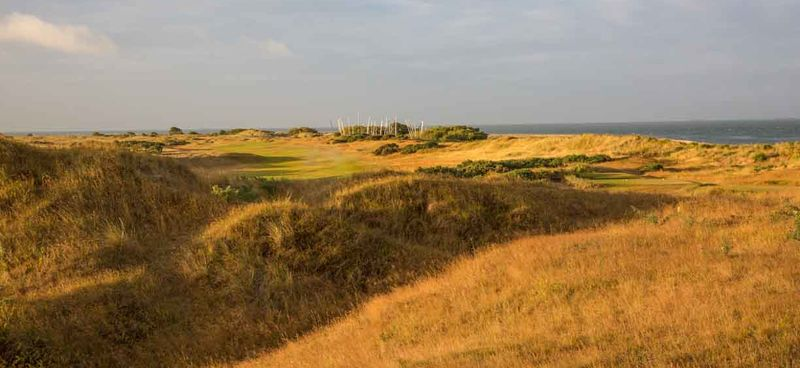 12th fairway from dunes behind green
