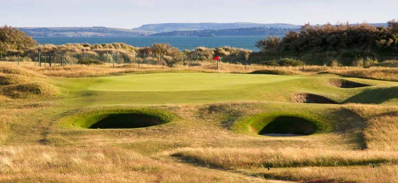 11th green looking out to Isle of Wight